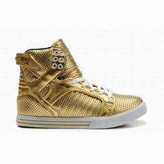 gold white women supra