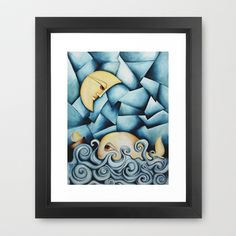 Moby Dick The Daughter Of The Moon Framed Art Print by SimonaMereuArt - $45.00