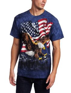 The Mountain Men's Eagle Talon Flag Shirt  Blue  Large