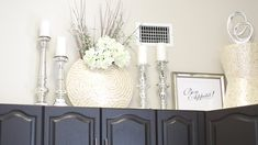 DECORATE WITH ME|ABOVE MY KITCHEN CABINETS - YouTube
