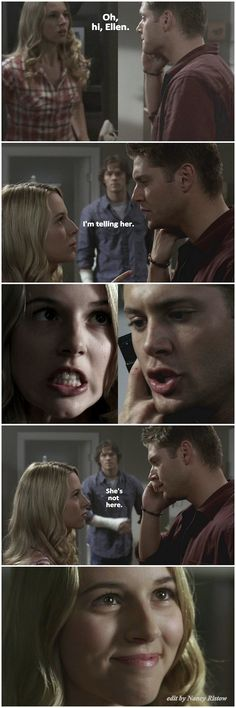 2x06 No Exit - I absolutely LOVED the dynamic these two had. Jo totally kept Dean on his toes. I miss her like crazy.