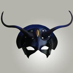 """Tarnhelm"" – leather mask inspired by Wagner's ""Das Rheingold"" opera     Wendy Drolma Masks"