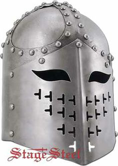 Knights Heavy Armor SCA Spangenhelm--This has always been my dream helm. Something about the eyes...