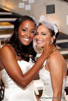 Same Sex Brides in Baltimore, brown brides, LGBT, african american bridal makeup