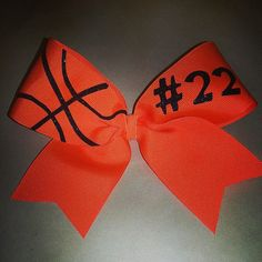Basketball Bow via Etsy. I'm so getting one of these!