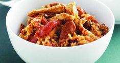 Risotto poulet chorizo au thermomix. Voici une délicieuse recette de risotto au poulet et au chorizo, simple et facile à réaliser au thermomix.