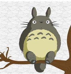 Totoro holding leaf at bus stop sign cute anime vinyl ...