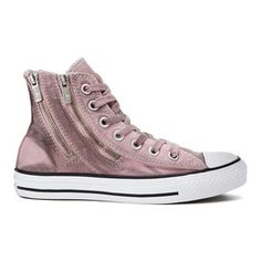 a777087e6534 Converse Women s Chuck Taylor All Star Dual Zip Wash Hi-Top Trainers - Pink  Freeze