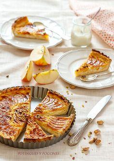 POTINGUES Y FOGONES: Tarta de requesón y manzana