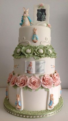 As far as wedding cakes go... We think that this one is pretty perfect! #PeterRabbit via @LucyofAmbleside