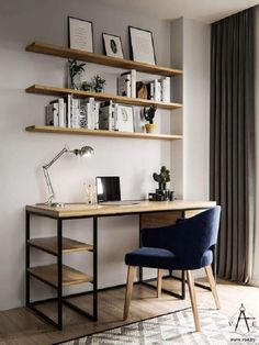 Want to know how to assemble a perfect home office? So, see our tips on how to decorate and organize home office for comfort and productivity. Home Office Setup, Home Office Space, Home Office Desks, Office Decor, Apartment Office, Office Ideas, Home Offices, Cozy Home Office, Home Office Table