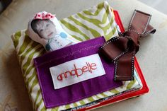 Personalized Soft Book Tutorial. Print pictures onto fabric and add notes about or to the child.