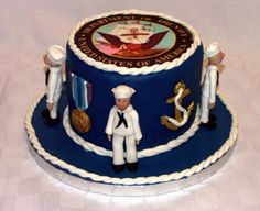 Navy Cake By LisaR64 on CakeCentral.com