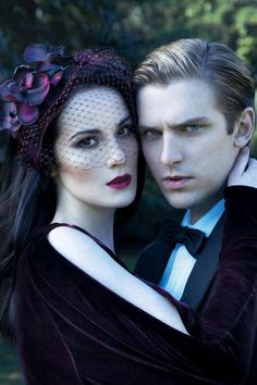 Mary and Matthew | More DA photos here: http://mylusciouslife.com/historical-style-downton-abbey-photos/