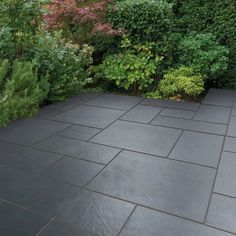 Bradstone Vetusto Porcelain Paving in Blue-Black Garden Slabs, Garden Tiles, Patio Slabs, Patio Tiles, Garden Paving, Concrete Patio, Bradstone Paving, Sandstone Paving Slabs, Paving Stone Patio