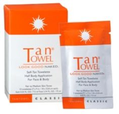 Tantowel®  Half Body Classic towelette. This is a simple and convenient self-tan towelette. Once you try it you'll never go back to creams, foams, or bottles. No streaking, odor or mess.
