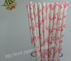 Crown Printed Princess Paper Straws http://www.paperstrawssale.com/crown-printed-princess-paper-straws-500pcs-p-332.html