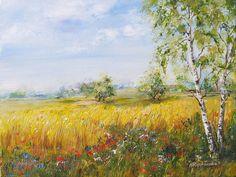 Cztery pory roku - lato - obraz akrylowy Maria Roszkowska