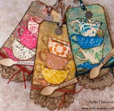 The Artful Maven Haven: 12 Tags of 2015 - June Atc Cards, Card Tags, Gift Tags, Journal Cards, Junk Journal, Journal Ideas, Timmy Time, Karten Diy, Love Tag