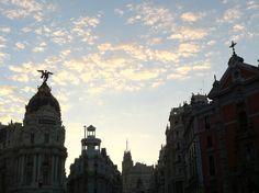 Que bonito el cielo de Madrid!
