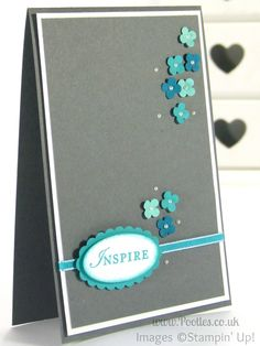 Inspired by Blue - a Card Made using Stampin' Up! UK products... Close Up (2)