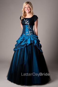 I'm not Mormon, but this is gorgeous! Even if you didn't want the most modest dress!