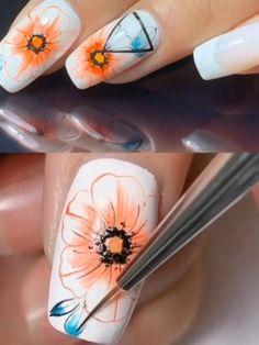 Animal Nail Designs, Nail Art Designs Videos, Creative Nail Designs, Nail Art Videos, Edgy Nails, Trendy Nails, Nail Art Hacks, Nail Art Diy, Gel Nails