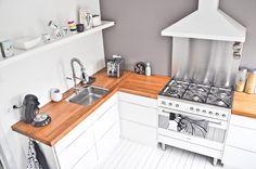 wood kitchen counter