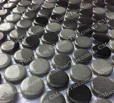 Grey Round Penny Mosaic Tiles