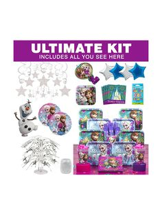 Frozen Ultimate Kit - Birthday Party Supplies & Themed Tableware