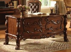 12169 Dresden Traditional Office Desk in Brown Cherry by Acme Furniture. $721.05. Welcome this executive Dresden Traditional Office Desk in Cherry Oak into your traditional home office It is constructed of finest solid woods and veneers in a warm cherry oak finish with a grand scale for a regal look Amazingly beautiful traditional...