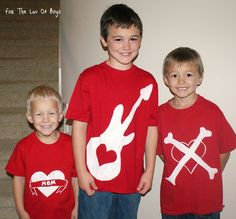 For The Luv Of Boys: Fun Valentine's Day Shirts!