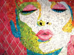 """What a way to recycle junk mail! This is """"Shut Up and Kiss Me"""" by Sandhi Schimmel Gold. This really is AMAZING!"""