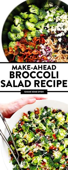 Broccoli salad is the perfect make-ahead salad recipe. This fresh and vibrant salad is perfect for gatherings like picnics, summer BBQs, and potlucks because it's always a crowd-pleaser. If you're looking for a great broccoli salad recipe to save to your repertoire, I highly recommend giving this delicious salad a try! Side Salad Recipes, Healthy Salad Recipes, Side Dish Recipes, Real Food Recipes, Side Dishes, Dinner Recipes, Best Broccoli Salad Recipe, 21 Day Meal Plan, Retro Recipes