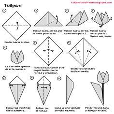 tipos letras en papel  | origami neko: Origami: Tulipán