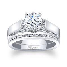 Global Barkev's Designer 14k Gold 1 1/4ct TDW Round-cut Bridal Ring Set
