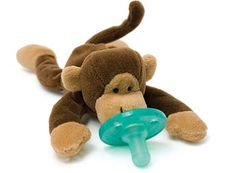 Our son's WubbaNub Monkey.  His favorite thing by far, a pacifier and a best friend all in one.  Love him :)