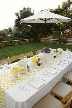 Yellow wedding reception table decor  #yellow wedding reception ... Wedding ideas for brides, grooms, parents & planners ... https://itunes.apple.com/us/app/the-gold-wedding-planner/id498112599?ls=1=8 … plus how to organise an entire wedding ♥ The Gold Wedding Planner iPhone App ♥