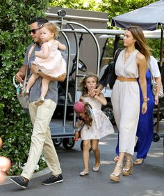 Jessica Alba and her family spend Mothers Day in Bel Air