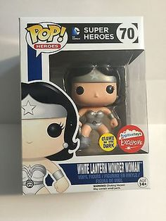 Funko Pop! SDCC 2015 Fugitive Exclusive White Lantern Wonder Woman GITD
