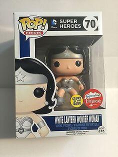 Funko Pop! SDCC 2015 Fugitive Exclusive White Lantern Wonder Woman GITD
