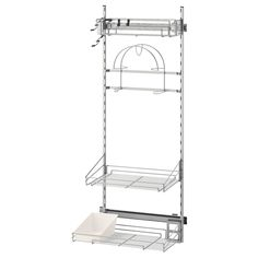 IKEA UTRUSTA Cleaning interior 140 cm Pull-out organisers make it easy for you to see and reach your cleaning supplies. Ikea Variera, Kitchen Cabinet Interior, Utensil Trays, Cleaning Cabinets, Drawer Rails, Hose Holder, Polypropylene Plastic, Wire Shelving, Organizers
