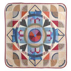 "Early American 20th Century Modern Geometric Quilt, 1930-1940.  Very ""art moderne"""