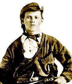 Jesse James - Confederate Guerrilla of the Missouri-Kansas conflict, Civil War.