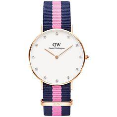 Daniel Wellington 0952DW Women's Winchester Classy Canvas Strap Watch