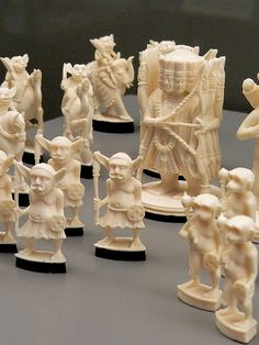 Ivory chess set depicting the story of the Ramayana India 1930 | Flickr - Photo Sharing!