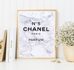 marble chanel art fashion photo print makeup typographic Print quote art print wall decor tumblr decor tumblr room decor frame quote logo