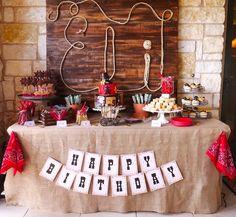 Eli's Wild West - Birthday party by Mint Event Design Rodeo Birthday Parties, Country Birthday Party, Rodeo Party, Cowboy Theme Party, 2nd Birthday, Birthday Ideas, Horse Birthday, Cowgirl Birthday, Happy Birthday