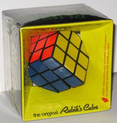 A 1980 Rubik's Cube sealed in its original box.