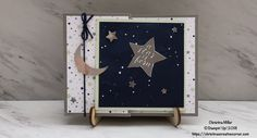 Little Twinkle Fun Fold Card – Christina's Creative Corner, Stampin' Up! Little Twinkle stamp set, Twinkle Builder Punch, Twinkle Twinkle DSP Fancy Fold Cards, Folded Cards, Chinese Landscape, Stamping Up Cards, Baby Cards, Stargazing, Card Templates, Twinkle Twinkle, Crafts To Make